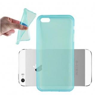 Cadorabo Hülle für Apple iPhone 5 / iPhone 5S / iPhone SE - Hülle in TRANSPARENT BLAU ? Handyhülle aus TPU Silikon im Ultra Slim 'AIR' Design - Ultra Slim Soft Backcover Case Bumper