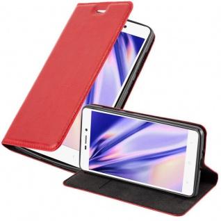 Cadorabo Hülle für Xiaomi RedMi 3S in APFEL ROT - Handyhülle mit Magnetverschluss, Standfunktion und Kartenfach - Case Cover Schutzhülle Etui Tasche Book Klapp Style