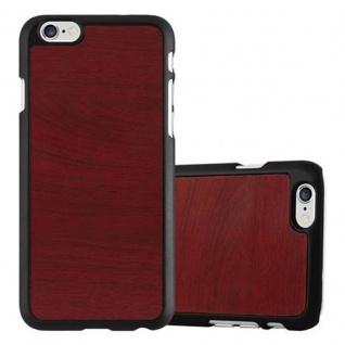 Cadorabo Hülle für Apple iPhone 6 / iPhone 6S in WOODY ROT ? Hardcase Handyhülle aus Plastik gegen Kratzer und Stöße ? Schutzhülle Bumper Ultra Slim Back Case Hard Cover