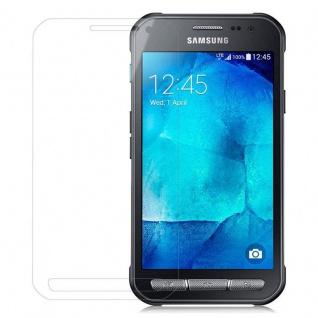 Cadorabo Panzer Folie für Samsung Galaxy XCover 3 - Schutzfolie in KRISTALL KLAR - Gehärtetes (Tempered) Display-Schutzglas in 9H Härte mit 3D Touch Kompatibilität