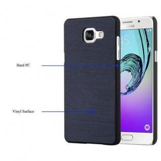 Cadorabo Hülle für Samsung Galaxy A3 2016 in WOODY BLAU ? Hardcase Handyhülle aus Plastik gegen Kratzer und Stöße ? Schutzhülle Bumper Ultra Slim Back Case Hard Cover - Vorschau 4