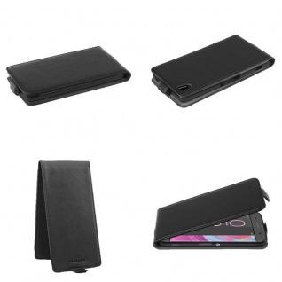 Cadorabo Hülle für Sony Xperia XA in OXID SCHWARZ - Handyhülle im Flip Design aus strukturiertem Kunstleder - Case Cover Schutzhülle Etui Tasche Book Klapp Style - Vorschau 2