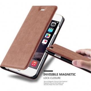 Cadorabo Hülle für Apple iPhone 6 / iPhone 6S in CAPPUCCINO BRAUN - Handyhülle mit Magnetverschluss, Standfunktion und Kartenfach - Case Cover Schutzhülle Etui Tasche Book Klapp Style
