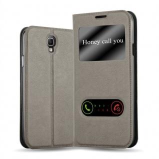 Cadorabo Hülle für Samsung Galaxy NOTE 3 NEO in STEIN BRAUN ? Handyhülle mit Magnetverschluss, Standfunktion und 2 Sichtfenstern ? Case Cover Schutzhülle Etui Tasche Book Klapp Style