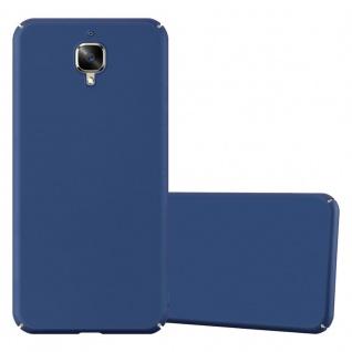 Cadorabo Hülle für OnePlus 3 / 3T in METALL BLAU Hardcase Handyhülle aus Plastik gegen Kratzer und Stöße Schutzhülle Bumper Ultra Slim Back Case Hard Cover