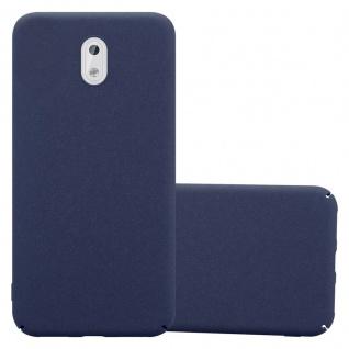 Cadorabo Hülle für Nokia 3 2017 in FROSTY BLAU - Hardcase Handyhülle aus Plastik gegen Kratzer und Stöße - Schutzhülle Bumper Ultra Slim Back Case Hard Cover