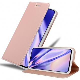 Cadorabo Hülle für Samsung Galaxy A90 5G in CLASSY ROSÉ GOLD - Handyhülle mit Magnetverschluss, Standfunktion und Kartenfach - Case Cover Schutzhülle Etui Tasche Book Klapp Style