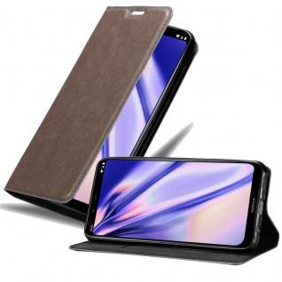 Cadorabo Hülle für Nokia 8.1 2018 in KAFFEE BRAUN Handyhülle mit Magnetverschluss, Standfunktion und Kartenfach Case Cover Schutzhülle Etui Tasche Book Klapp Style