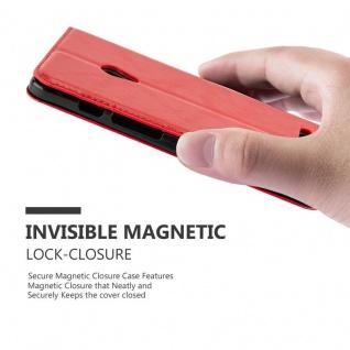 Cadorabo Hülle für Asus ZenFone 5 2014 in APFEL ROT - Handyhülle mit Magnetverschluss, Standfunktion und Kartenfach - Case Cover Schutzhülle Etui Tasche Book Klapp Style - Vorschau 5