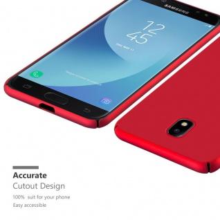 Cadorabo Hülle für Samsung Galaxy J7 2017 in METALL ROT ? Hardcase Handyhülle aus Plastik gegen Kratzer und Stöße ? Schutzhülle Bumper Ultra Slim Back Case Hard Cover - Vorschau 5