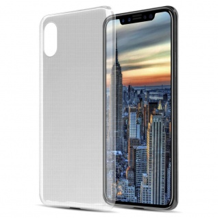 Cadorabo Hülle und Panzer Folie für Apple iPhone X / XS in TRANSPARENT ? Handyhülle aus TPU Silikon mit Tempered Schutzglas ? Silikonhülle Schutzhülle Ultra Slim Soft Back Cover Case Bumper