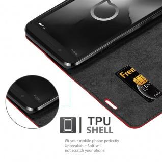 Cadorabo Hülle für Alcatel 1C 2019 in APFEL ROT Handyhülle mit Magnetverschluss, Standfunktion und Kartenfach Case Cover Schutzhülle Etui Tasche Book Klapp Style - Vorschau 5