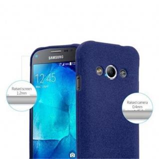 Cadorabo Hülle für Samsung Galaxy XCover 3 in FROST DUNKEL BLAU - Handyhülle aus flexiblem TPU Silikon - Silikonhülle Schutzhülle Ultra Slim Soft Back Cover Case Bumper - Vorschau 3