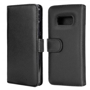 Cadorabo Hülle für Samsung Galaxy S8 PLUS in OXID SCHWARZ ? Handyhülle mit Magnetverschluss und 3 Kartenfächern ? Case Cover Schutzhülle Etui Tasche Book Klapp Style - Vorschau 3