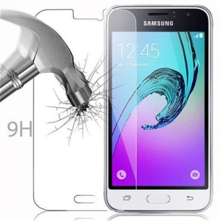 Cadorabo Panzer Folie für Samsung Galaxy J1 2016 - Schutzfolie in KRISTALL KLAR - Gehärtetes (Tempered) Display-Schutzglas in 9H Härte mit 3D Touch Kompatibilität - Vorschau 3