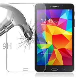 Cadorabo Panzer Folie für Samsung Galaxy Tab 4 (7 Zoll) - Schutzfolie in KRISTALL KLAR - Gehärtetes (Tempered) Display-Schutzglas in 9H Härte mit 3D Touch Kompatibilität - Vorschau 3