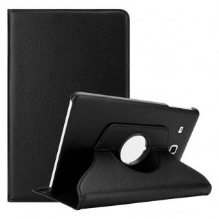 """Cadorabo Tablet Hülle für Samsung Galaxy Tab E (9, 6"""" Zoll) SM-T561 / T560 in HOLUNDER SCHWARZ Book Style Schutzhülle OHNE Auto Wake Up mit Standfunktion und Gummiband Verschluss"""