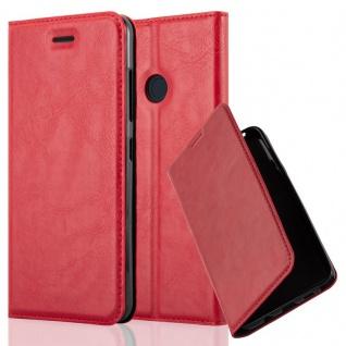Cadorabo Hülle für HTC Desire 10 PRO in APFEL ROT - Handyhülle mit Magnetverschluss, Standfunktion und Kartenfach - Case Cover Schutzhülle Etui Tasche Book Klapp Style