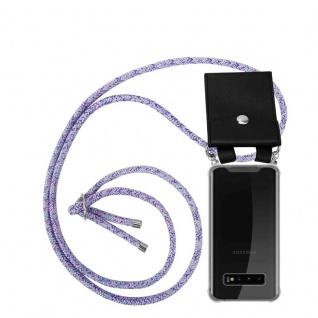 Cadorabo Handy Kette für Samsung Galaxy S10 PLUS in UNICORN Silikon Necklace Umhänge Hülle mit Silber Ringen, Kordel Band Schnur und abnehmbarem Etui Schutzhülle