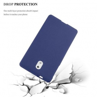 Cadorabo Hülle für Nokia 3 2017 in FROST DUNKEL BLAU - Handyhülle aus flexiblem TPU Silikon - Silikonhülle Schutzhülle Ultra Slim Soft Back Cover Case Bumper - Vorschau 5