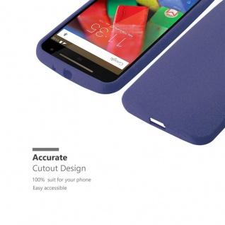 Cadorabo Hülle für Motorola MOTO G2 in FROST DUNKEL BLAU - Handyhülle aus flexiblem TPU Silikon - Silikonhülle Schutzhülle Ultra Slim Soft Back Cover Case Bumper - Vorschau 5