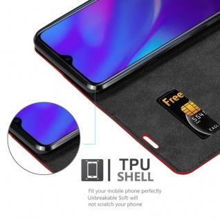 Cadorabo Hülle für OPPO R17 NEO in APFEL ROT Handyhülle mit Magnetverschluss, Standfunktion und Kartenfach Case Cover Schutzhülle Etui Tasche Book Klapp Style - Vorschau 5