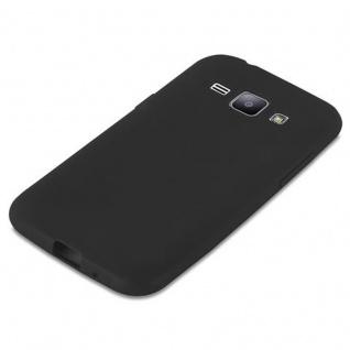 Cadorabo Hülle für Samsung Galaxy J1 2015 in CANDY SCHWARZ - Handyhülle aus flexiblem TPU Silikon - Silikonhülle Schutzhülle Ultra Slim Soft Back Cover Case Bumper - Vorschau 4