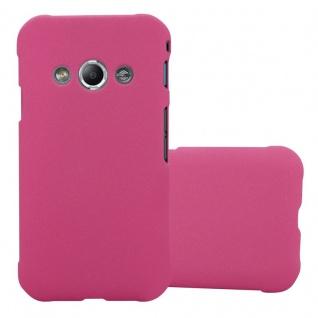 Cadorabo Hülle für Samsung Galaxy XCover 3 in FROSTY PINK - Hardcase Handyhülle aus Plastik gegen Kratzer und Stöße - Schutzhülle Bumper Ultra Slim Back Case Hard Cover