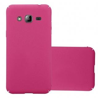 Cadorabo Hülle für Samsung Galaxy J3 / J3 DUOS 2016 in FROSTY PINK - Hardcase Handyhülle aus Plastik gegen Kratzer und Stöße - Schutzhülle Bumper Ultra Slim Back Case Hard Cover