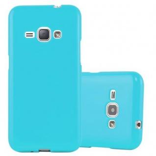 Cadorabo Hülle für Samsung Galaxy J1 2015 in JELLY HELL BLAU ? Handyhülle aus flexiblem TPU Silikon ? Silikonhülle Schutzhülle Ultra Slim Soft Back Cover Case Bumper
