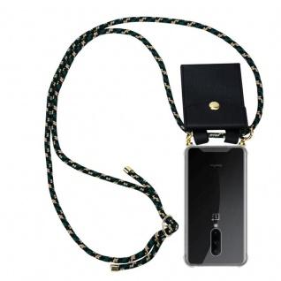 Cadorabo Handy Kette für OnePlus 7 PRO in CAMOUFLAGE Silikon Necklace Umhänge Hülle mit Gold Ringen, Kordel Band Schnur und abnehmbarem Etui Schutzhülle