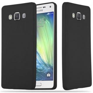 Cadorabo Hülle für Samsung Galaxy A5 2015 in CANDY SCHWARZ - Handyhülle aus flexiblem TPU Silikon - Silikonhülle Schutzhülle Ultra Slim Soft Back Cover Case Bumper