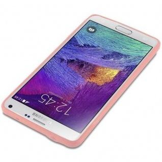 Cadorabo Hülle für Samsung Galaxy NOTE 4 in CANDY ROSA - Handyhülle aus flexiblem TPU Silikon - Silikonhülle Schutzhülle Ultra Slim Soft Back Cover Case Bumper - Vorschau 3