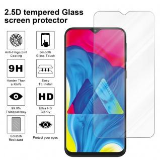 Cadorabo Panzer Folie für Samsung Galaxy M10 - Schutzfolie in KRISTALL KLAR - Gehärtetes (Tempered) Display-Schutzglas in 9H Härte mit 3D Touch Kompatibilität - Vorschau 3