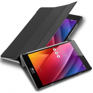 """Cadorabo Tablet Hülle für Asus ZenPad 8, 0 (8, 0"""" Zoll) (Z380M) in SATIN SCHWARZ Ultra Dünne Book Style Schutzhülle mit Auto Wake Up und Standfunktion aus Kunstleder"""
