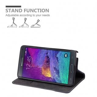 Cadorabo Hülle für Samsung Galaxy NOTE 4 in BLAU BRAUN ? Handyhülle mit Magnetverschluss, Standfunktion und Kartenfach ? Case Cover Schutzhülle Etui Tasche Book Klapp Style - Vorschau 3