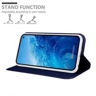 Cadorabo Hülle für Samsung Galaxy S10e in CLASSY DUNKEL BLAU - Handyhülle mit Magnetverschluss, Standfunktion und Kartenfach - Case Cover Schutzhülle Etui Tasche Book Klapp Style - Vorschau 3