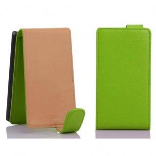Cadorabo Hülle für Sony Xperia E1 in APFEL GRÜN - Handyhülle im Flip Design aus strukturiertem Kunstleder - Case Cover Schutzhülle Etui Tasche Book Klapp Style - Vorschau 2