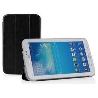 """"""" Cadorabo Hülle für Samsung Galaxy Tab 3, 0 (7"""" Zoll) - Hülle in DOMINO SCHWARZ ? Schutzhülle mit Auto Wake Sleep und Standfunktion - Book Style Etui Bumper Case Cover"""""""