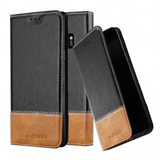 Cadorabo Hülle für Samsung Galaxy S9 in SCHWARZ BRAUN ? Handyhülle mit Magnetverschluss, Standfunktion und Kartenfach ? Case Cover Schutzhülle Etui Tasche Book Klapp Style