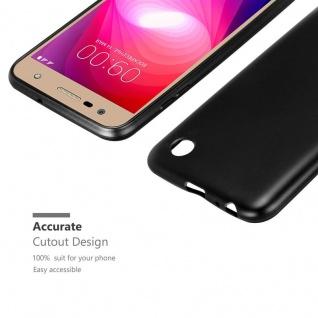Cadorabo Hülle für LG X Power 2 in METALLIC SCHWARZ - Handyhülle aus flexiblem TPU Silikon - Silikonhülle Schutzhülle Ultra Slim Soft Back Cover Case Bumper - Vorschau 5