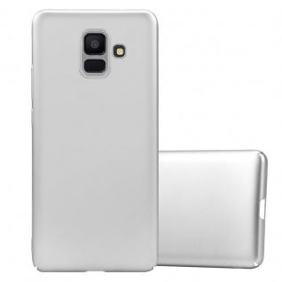Cadorabo Hülle für Samsung Galaxy A6 2018 in METALL SILBER - Hardcase Handyhülle aus Plastik gegen Kratzer und Stöße - Schutzhülle Bumper Ultra Slim Back Case Hard Cover