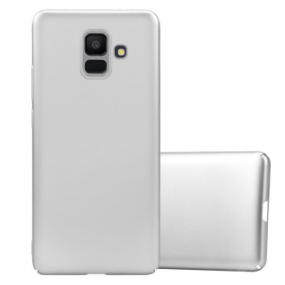 Cadorabo Hülle für Samsung Galaxy A6 2018 in METALL SILBER Hardcase Handyhülle aus Plastik gegen Kratzer und Stöße Schutzhülle Bumper Ultra Slim Back Case Hard Cover