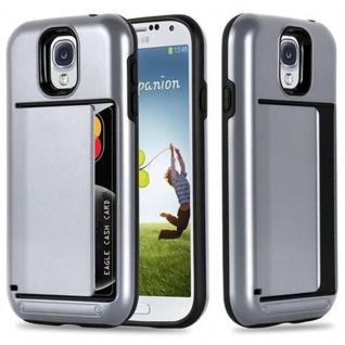 Cadorabo Hülle für Samsung Galaxy S4 - Hülle in ARMOR SILBER ? Handyhülle mit Kartenfach - Hard Case TPU Silikon Schutzhülle für Hybrid Cover im Outdoor Heavy Duty Design - Vorschau 1