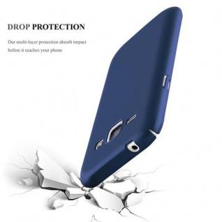 Cadorabo Hülle für Samsung Galaxy J1 2015 in METALL BLAU ? Hardcase Handyhülle aus Plastik gegen Kratzer und Stöße ? Schutzhülle Bumper Ultra Slim Back Case Hard Cover - Vorschau 3