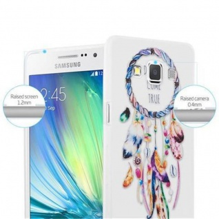 Cadorabo Hülle für Samsung Galaxy A3 2015 - Hülle im Design TRAUMFÄNGER 'Dreams come true' ? Handyhülle aus TPU Silikon mit Aufdruck - Silikonhülle Schutzhülle Ultra Slim Soft Back Cover Case Bumper - Vorschau 2