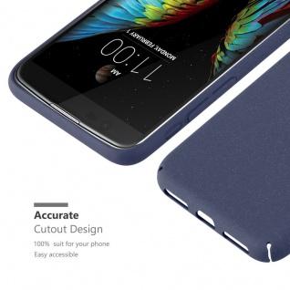 Cadorabo Hülle für LG K10 2016 in FROSTY BLAU - Hardcase Handyhülle aus Plastik gegen Kratzer und Stöße - Schutzhülle Bumper Ultra Slim Back Case Hard Cover - Vorschau 5
