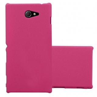 Cadorabo Hülle für Sony Xperia M2 / M2 Aqua in FROSTY PINK - Hardcase Handyhülle aus Plastik gegen Kratzer und Stöße - Schutzhülle Bumper Ultra Slim Back Case Hard Cover