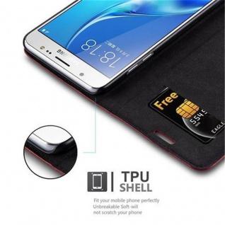 Cadorabo Hülle für Samsung Galaxy J5 2016 in APFEL ROT - Handyhülle mit Magnetverschluss, Standfunktion und Kartenfach - Case Cover Schutzhülle Etui Tasche Book Klapp Style - Vorschau 2