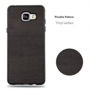 Cadorabo Hülle für Samsung Galaxy A3 2016 in WOODEN SCHWARZ ? Handyhülle aus flexiblem TPU Silikon ? Silikonhülle Schutzhülle Ultra Slim Soft Back Cover Case Bumper - Vorschau 5